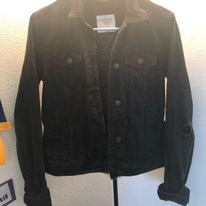 Abercrombie Black Jean Jacket